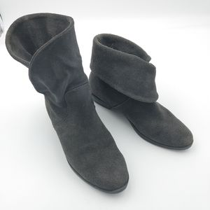 Suede fold down ankle boots size 6